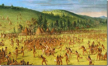 """An Indian Ball-Play"" by George Catlin"
