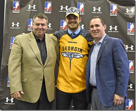 Chad Tutton, drafted 5th overall in 2015, with Ed Comeau and Andy Arlotta