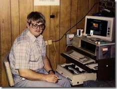 The author as a young dork