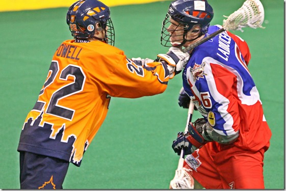 Casey Powell giving Ladouceur a totally legal check