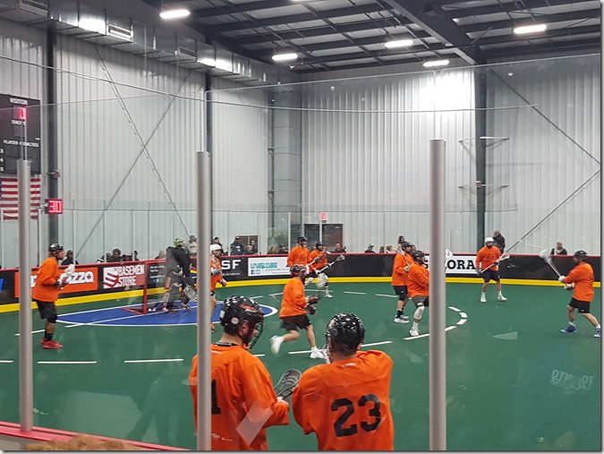 The Black Wolves warming up. Photo credit: me