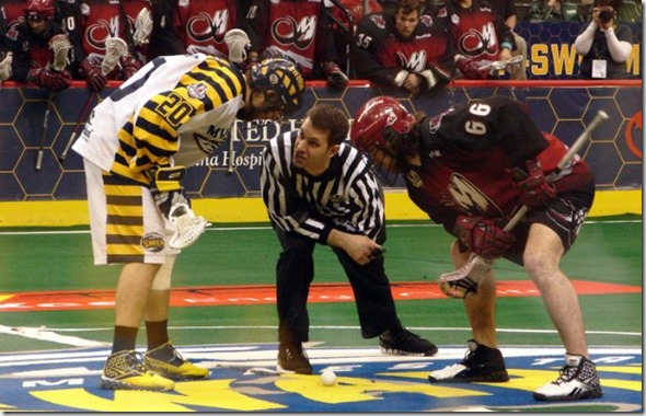 You guys have both read and understood the faceoff rule, right?